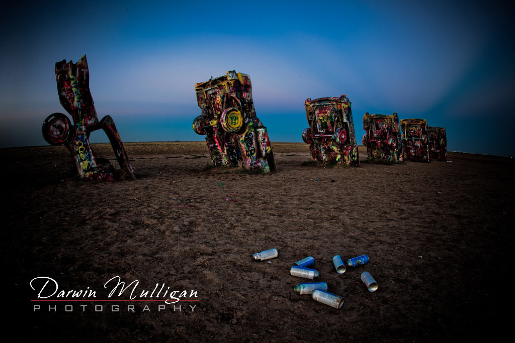 Cadillac Ranch Amarillo Texas painted cars