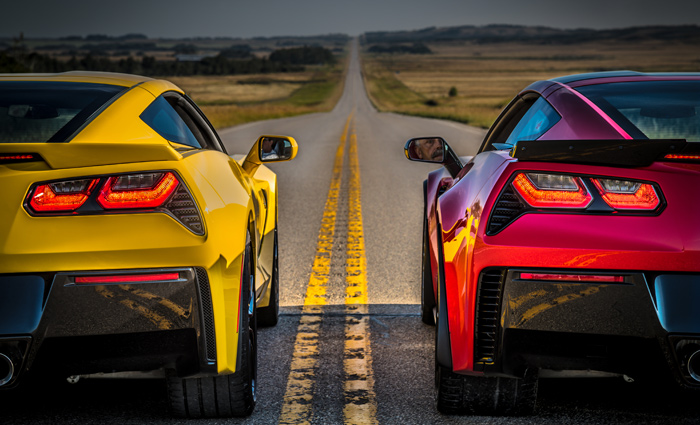 Lets Race Chevy Corvette Stingray and Z06