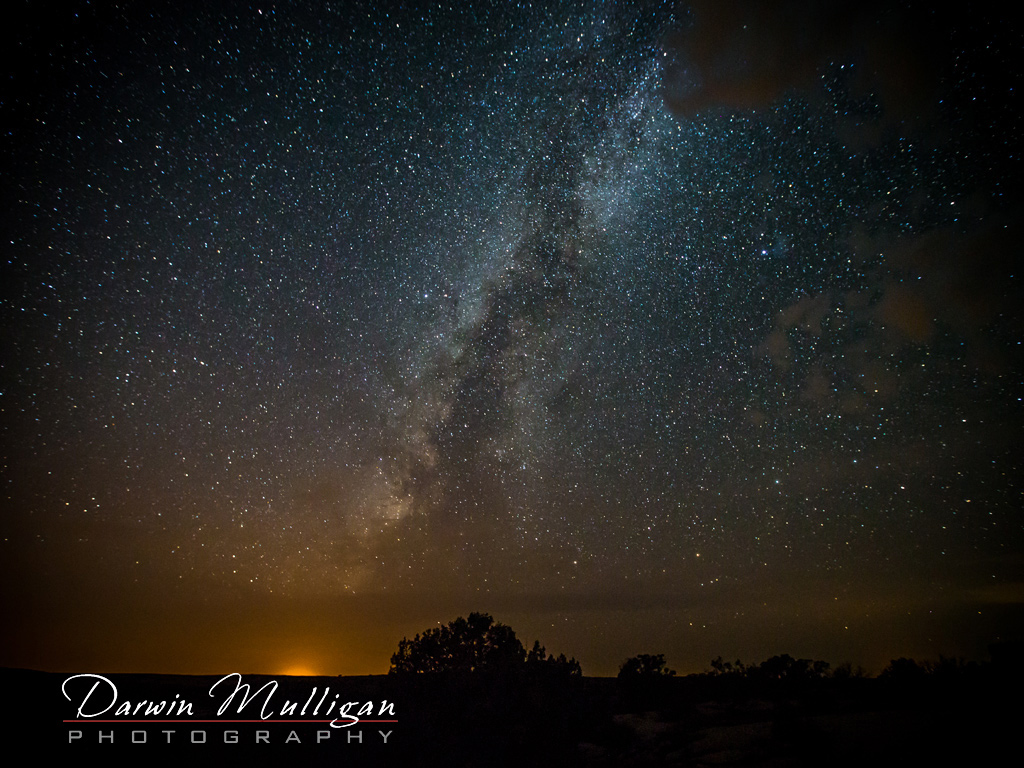 Night photo at Hovenweep National Monument with Milky way
