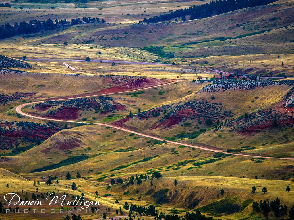 Meandering-Road-through-Bighorn-National-Forest-Wyoming