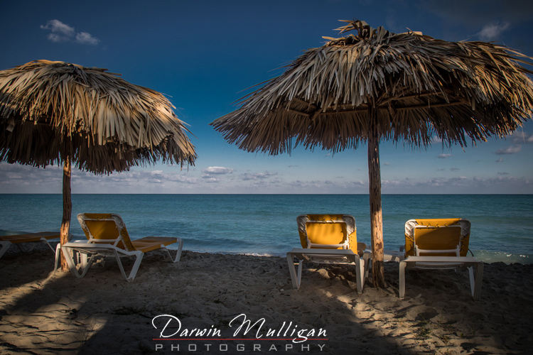 Palapa-and-Chairs-on-the-ocean-beach-Varadero-Cuba