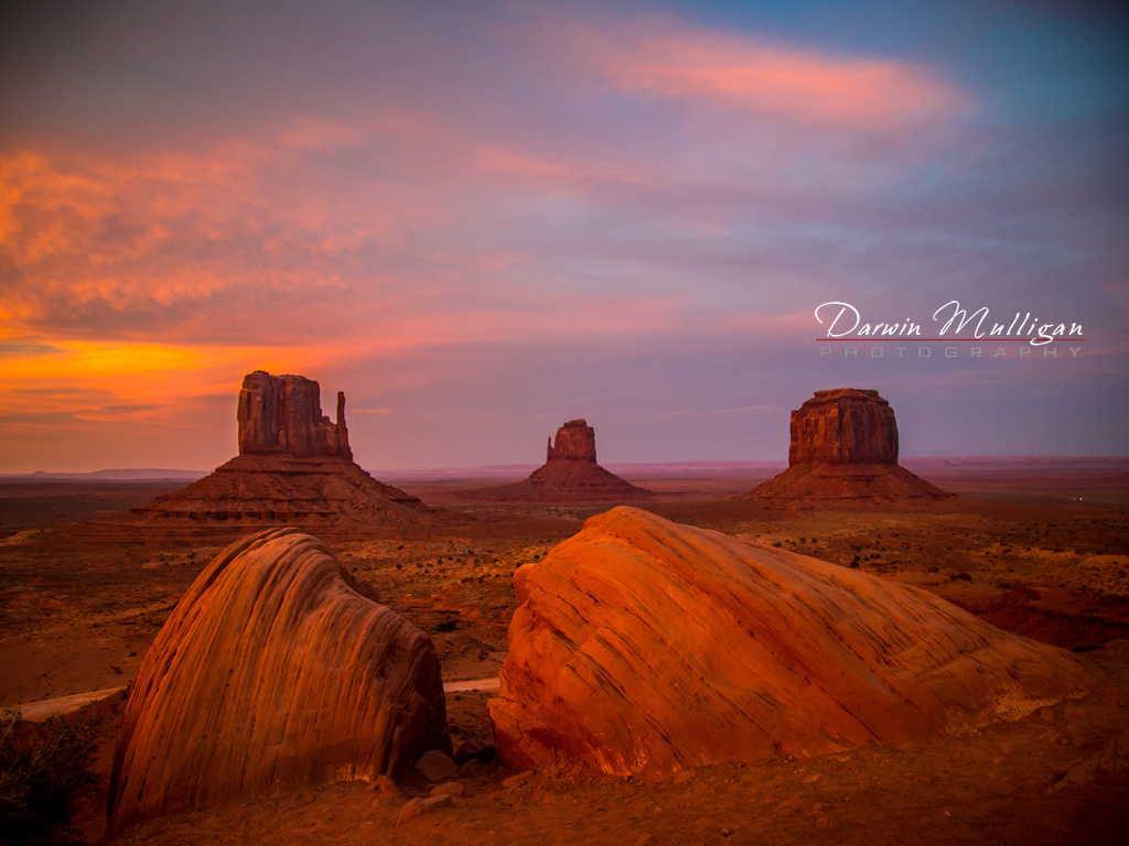 Classic view of Monument Valley Arizona from the parking lot