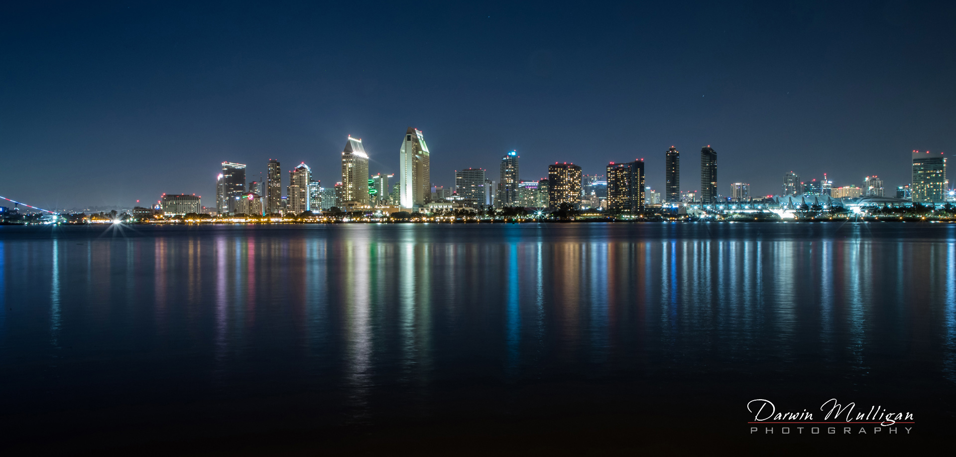 San-Diego-California-skyline-at-night-photographed-from-Coronado-Island
