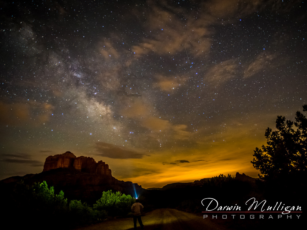 Sedona-light-painting-with-model-in-photo