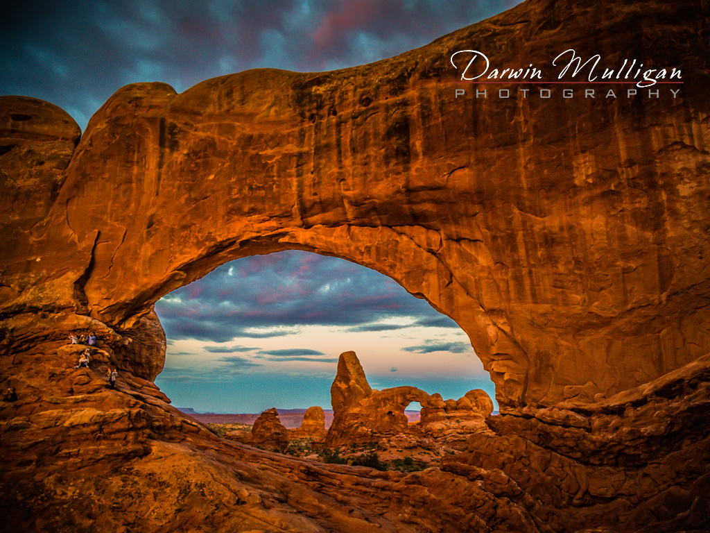 Turret-Arch-as-seen-through-Windows-Arch-Arches-National-Park-Moab-Utah