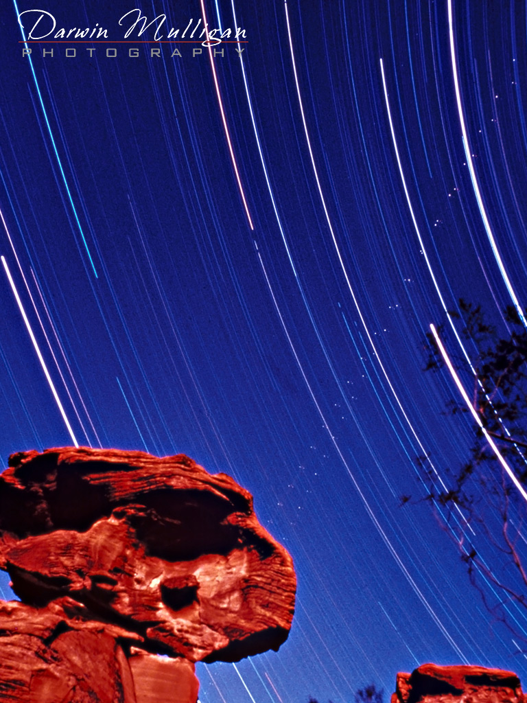 Star-Trails-and-Rock-Formation-Valley-of-Fire-State-Park-Nevada
