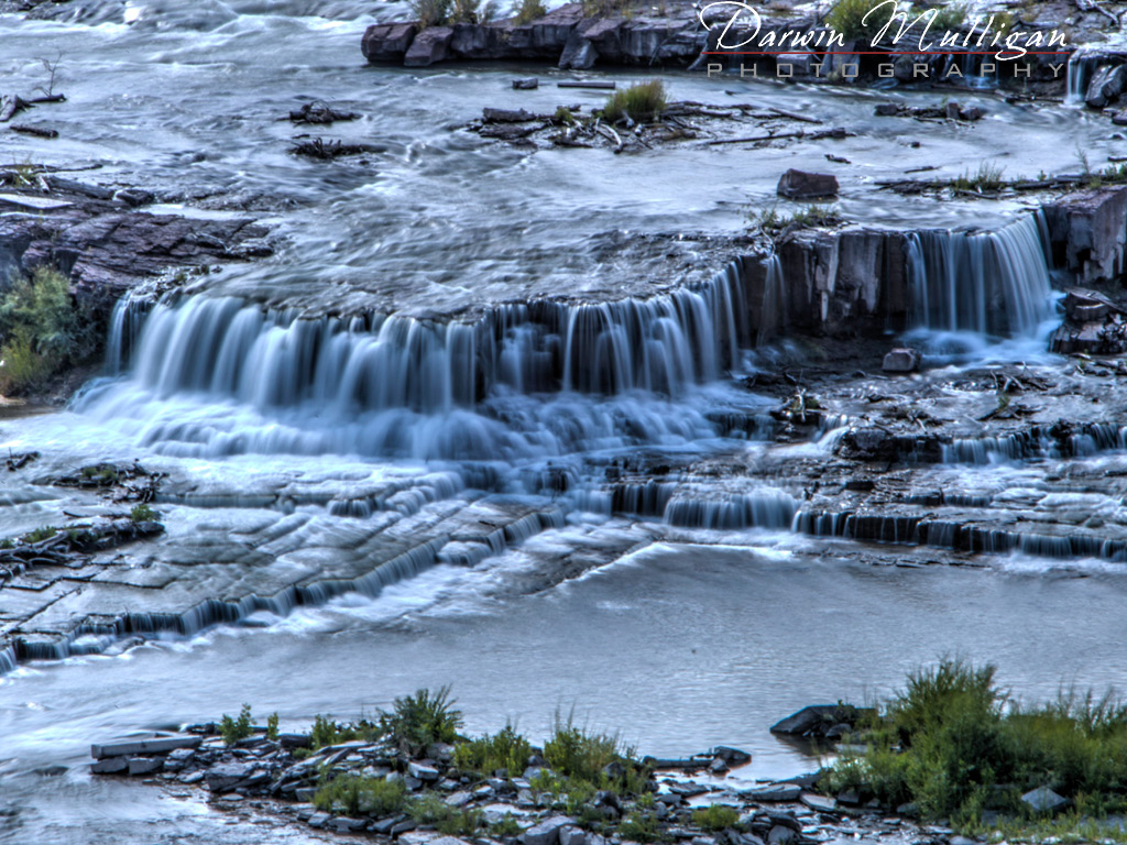 Waterfalls at Great Falls Montana