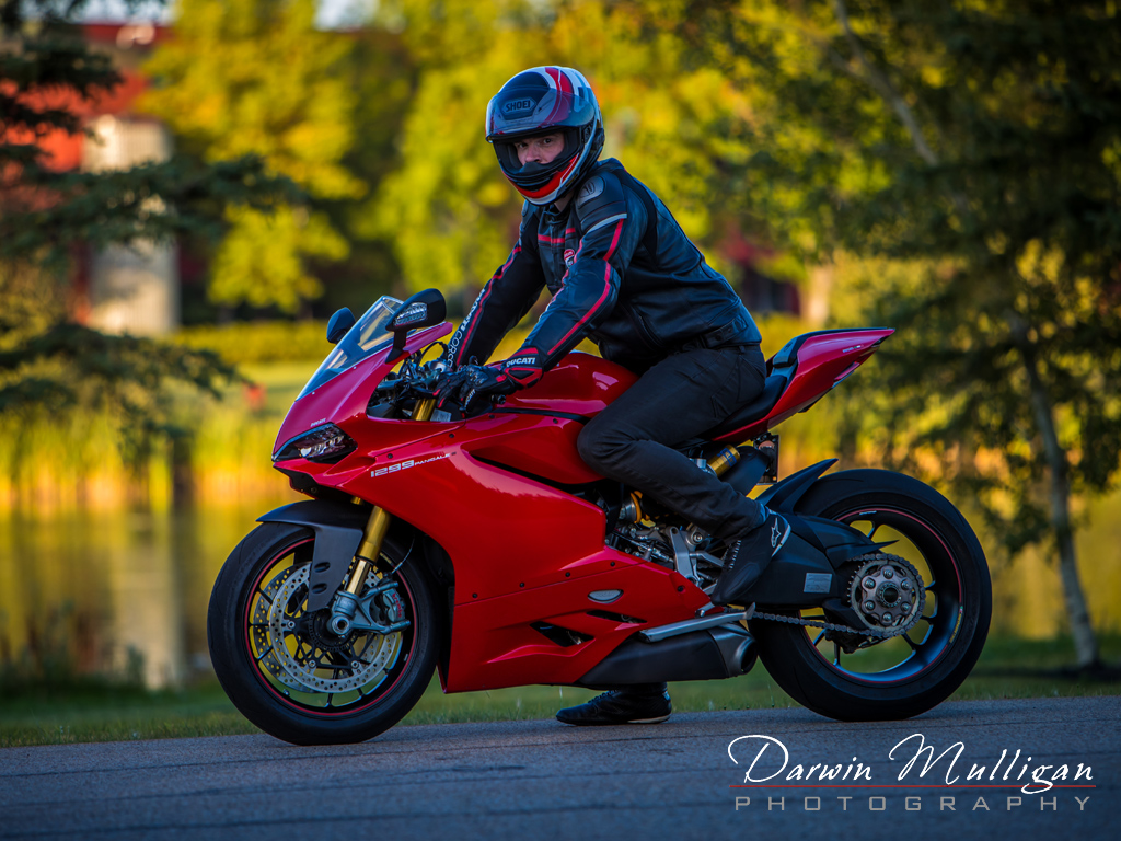 Edmonton portrait photography session with Ducati Motorcycle