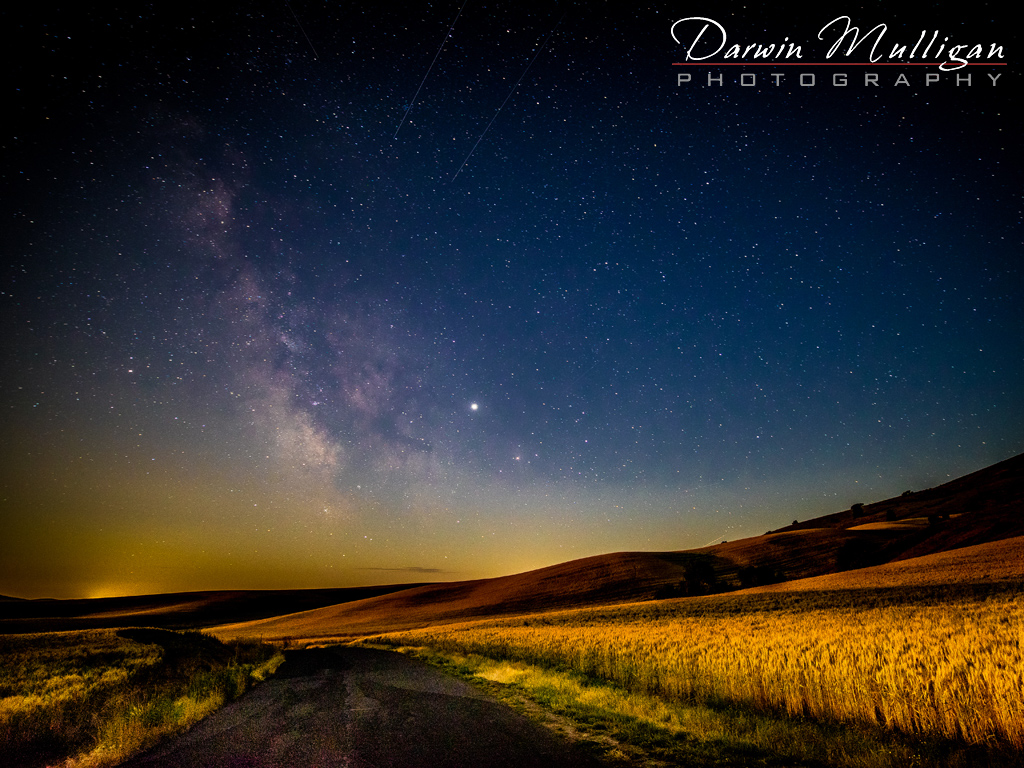 Milky Way and Moonlight Steptoe Butte State Park Washington