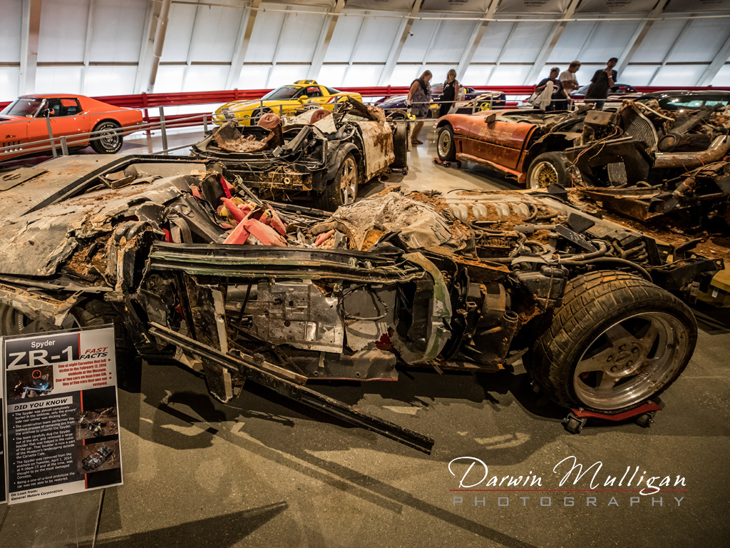 what is left of the corvettes from the sinkhole at the National Corvette Museum