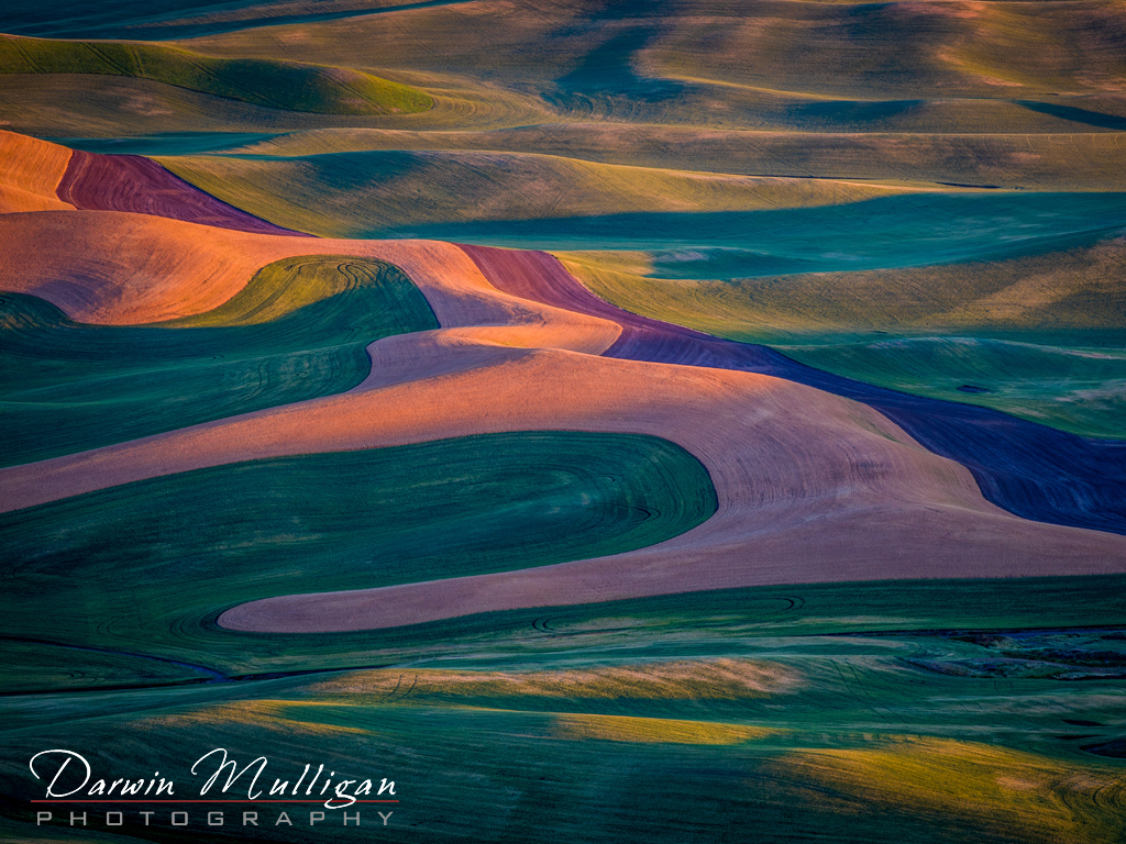 Sunrise view from Steptoe Butte State Park Washington