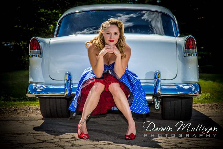 1955 Chevy Bel Air with pin up model