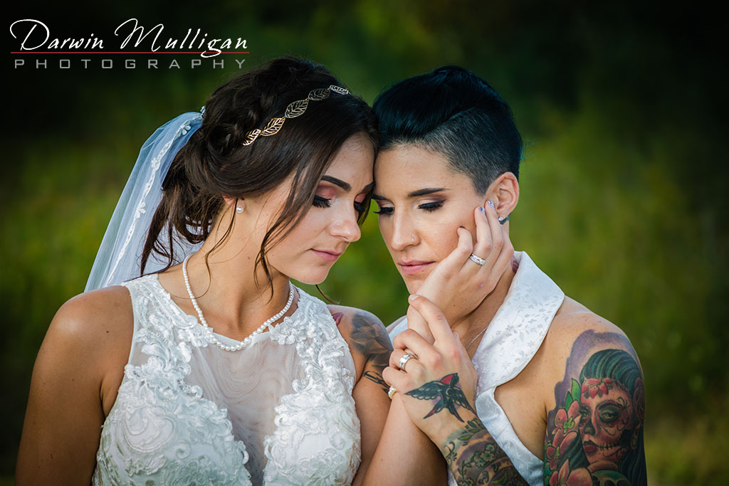 Two Brides On Their Wedding Day