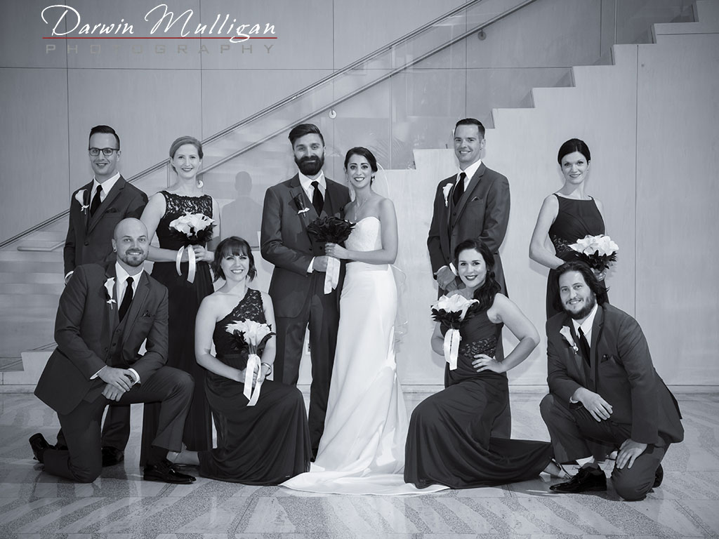 Bridal Party YEG Edmonton City Hall