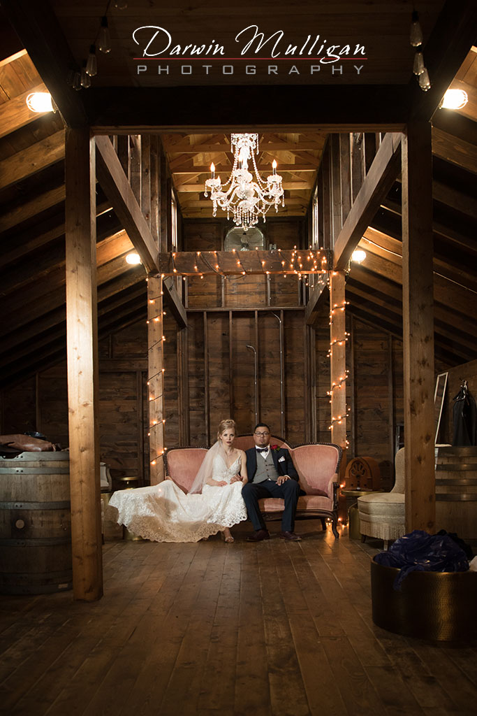 Old Fashion Wedding Portrait in a Barn