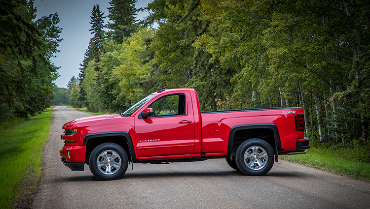 2016 Red Hot Chevy Silverado half ton short box regular cab 4x4 Z71 pickup truck