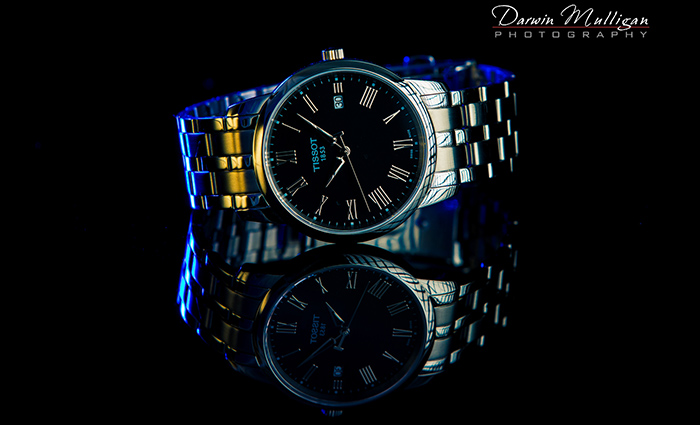 Swiss made Tissot Watch since 1853 product photography